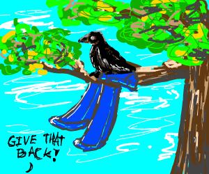 raven steals pants