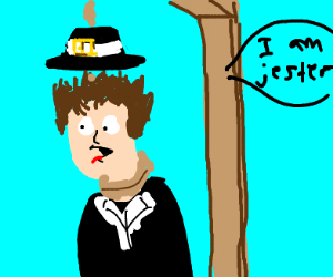 Pilgrim is hanged and says he is jester