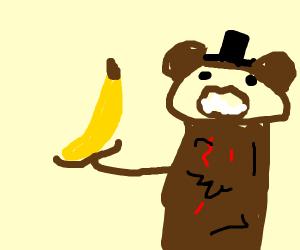 freddy from fnaf has a banana