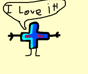 Drawception is a plus sign! And loves it!