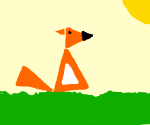 A fox composed of 7 triangles