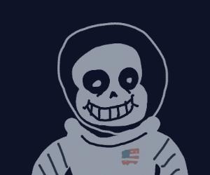 NASA skeleton in space suit, lost in space