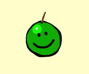 smiley apple (homestuck?)