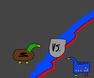 Duck vs. Connect 4 Duck
