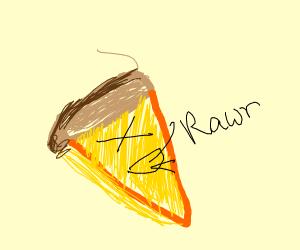 pizza says rawr XD