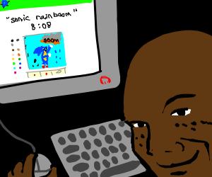 Smug guy trolling Drawception