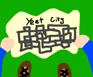 Women looking at map of yeet city