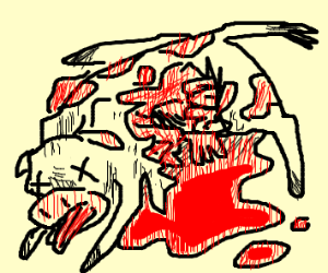 cow is mutilated