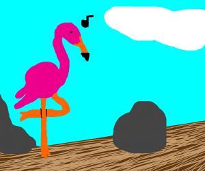 Flamingo sings despacito