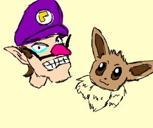 Waluigi and Eevee