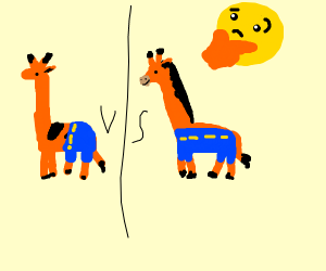 if a giraffe wore pants, then how?