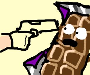 Guy kills chocolate