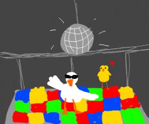 Chicken disco dancing