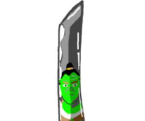 Shrek the master of the katana