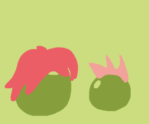 peas with red hair
