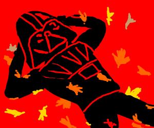 My man, Darth Vader in Autumn