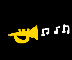 Trumpet does the toot three times