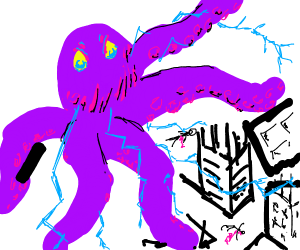 Electric Octopus attacks town. 0 survivors