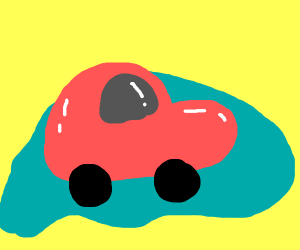 Happy cars in a puddle