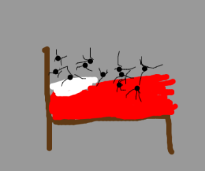 spiders on the bed