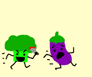 broccoli killing eggplant