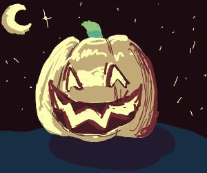 jack o' lantern in the night