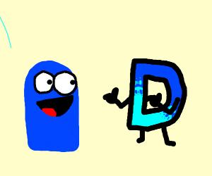 Blue sees drawception d