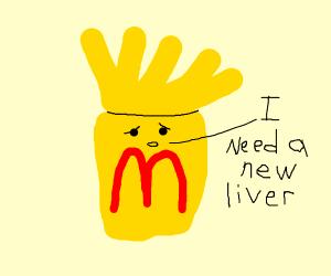 jaundiced sentinient box of mcdonalds fries