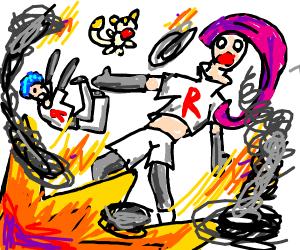 team rocket blasting off again (literally)