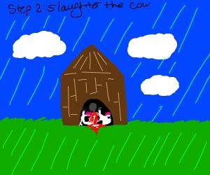 Step 1: Adopt a pet cow