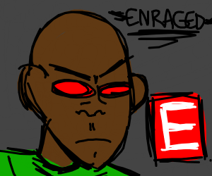 Remember E meme? Give him red eyes