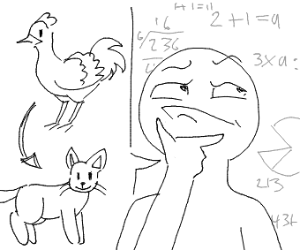 idiot thinks chicken is cat