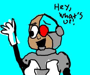 the cyborg form teen titans go(i think)do uwu