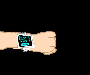 time traveling/ checking apple watch