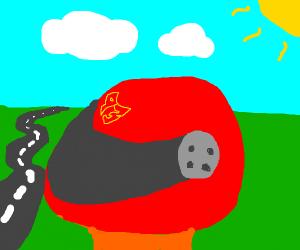 A helmet.
