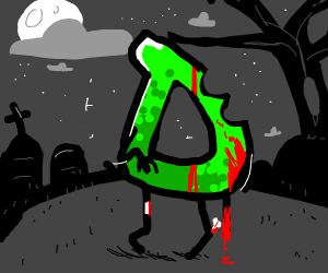 Drawception D is a zombie.