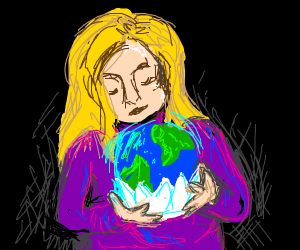 Girl who holds the world in a paper cup