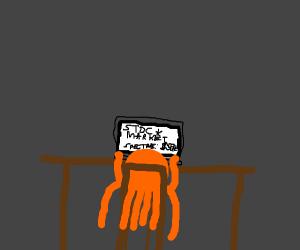 octopus checks the stockmarket online