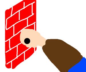 Head crashing into wall