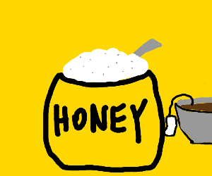 HONEY with sugar