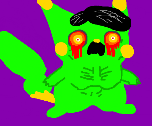 Thin green pikachu hitler