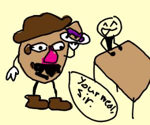 Mr. Potato Head Waiter