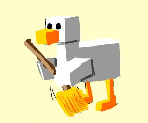 Minecraft birb tryna sweep