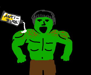 Incredible Hulk with Sunburn