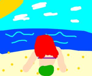 mermaid by shore