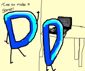 Drawception making his game