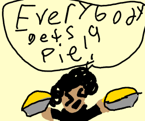 Oprah hands out pies