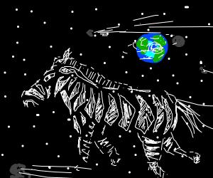 Zebra in space!