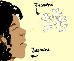 Jasmine smelling jasmine