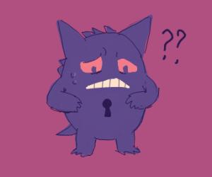 Gengar has a keyhole